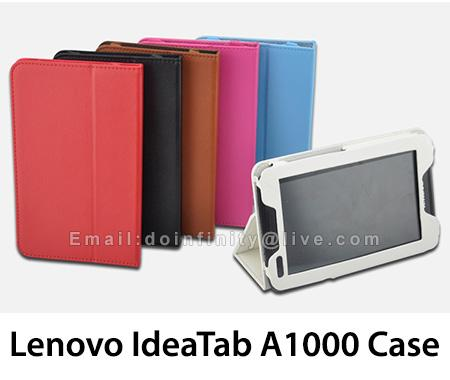 "New Lenovo IdeaTab A1000 Folio PU Leather Case Stand Cover 7"" Tablet"