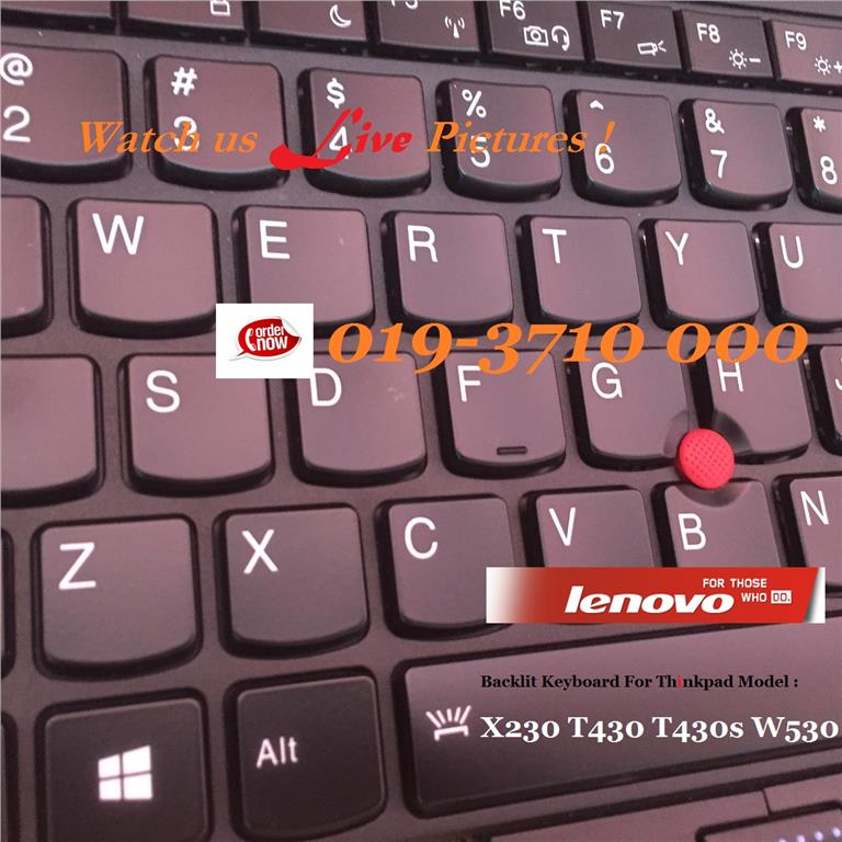 Lenovo Thinkpad T530 T430 T430s X230 X130e W530 Backlit keyboard - New