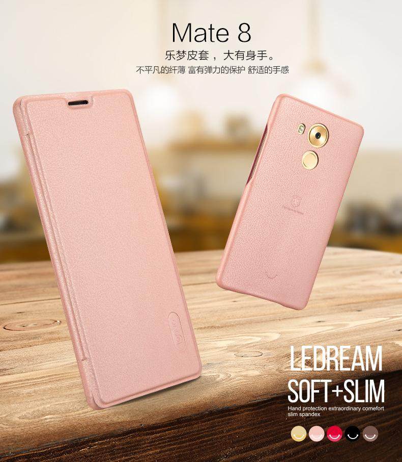 lenuo ledream Ultra Thin Huawei Mate 8 PU Leather Case Flip Cover