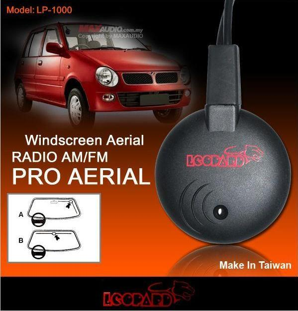 Leopard High Reception AM/FM Radio Windscreen Aerial Antenna