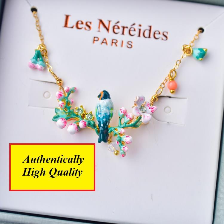 Les Nereides Necklace for her - Bird on Blossom