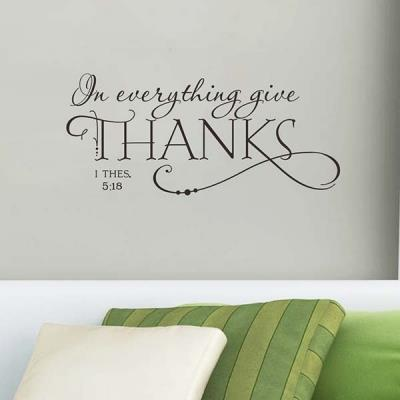 THANKS LETTERS Wall Sticker DIY Removable Quote Art Decal Vinyl Modern