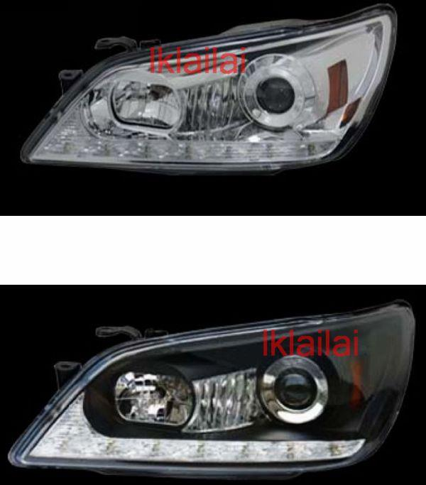 LEXUS ALTEZZA IS200 IS300 Projector Head Lamp DRL R8 [Black/Chrome]