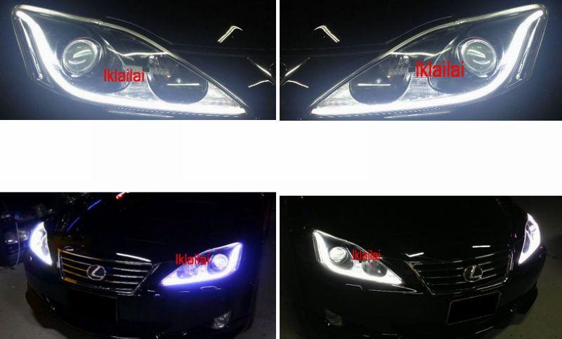 Lexus IS250 Projector Head Lamp Cool Starline DRL