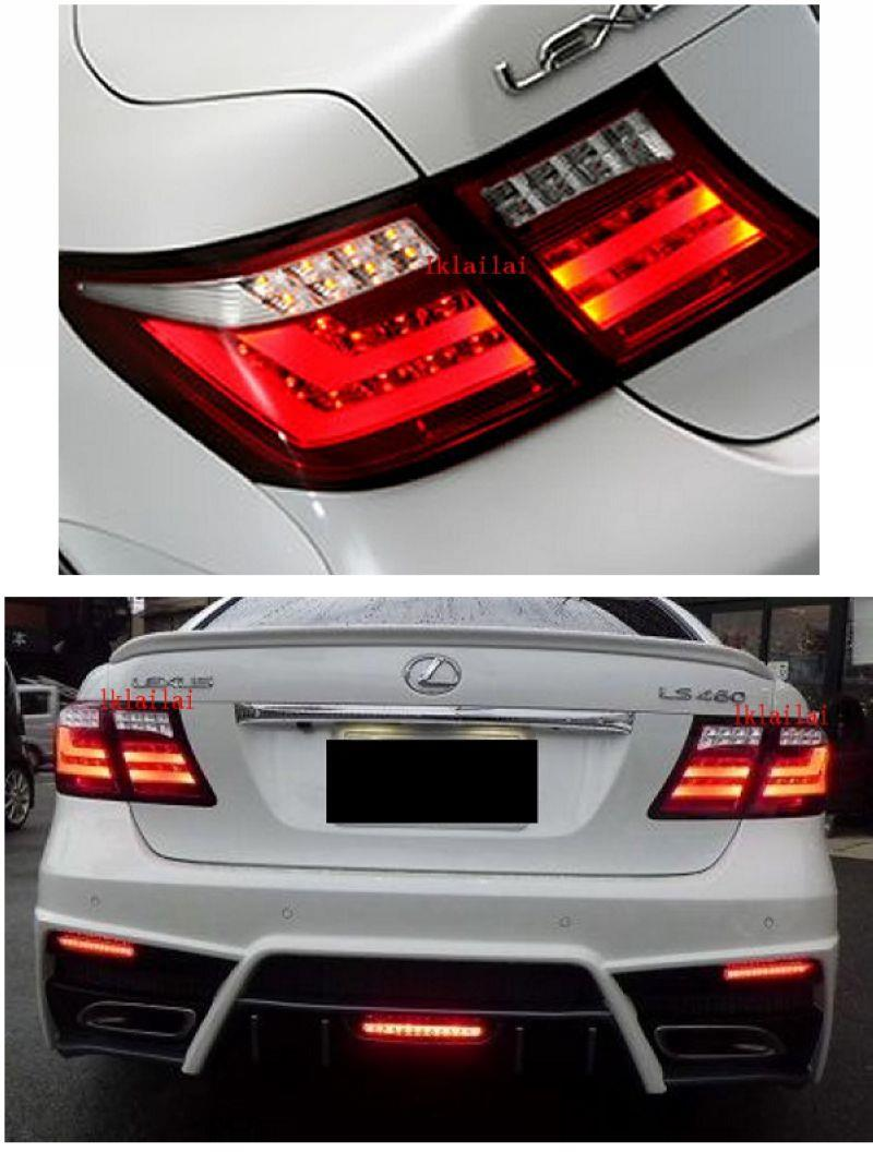 Lexus LS460 '06-09 LED Light Bar Tail Lamp [RED-CLEAR]