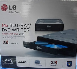 LG 14X BLURAY-RW INTERNAL SATA OPTICAL DRIVE (BH14NS40) BLK