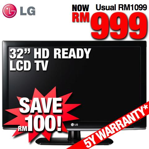 LG 32� HD Ready LCD TV (32LK311) SRP RM1099