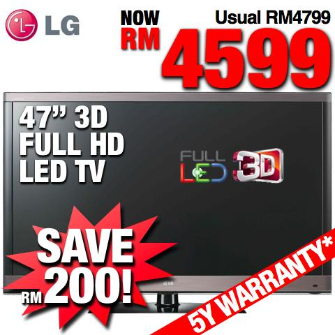 LG 47� Full HD Smart 3D LED TV (47LW4500) SRP RM4799