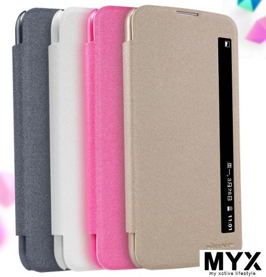 LG K10 Side Quick View PU Leather Casing Case Cover