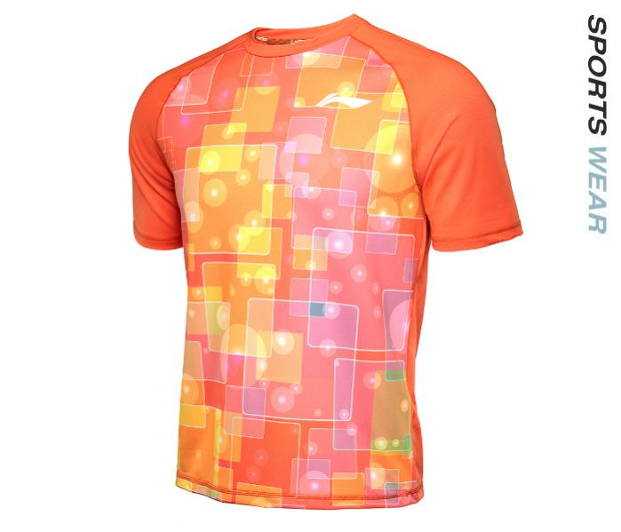 LI-NING Lining Men Kaos TEE - Orange -ATSL397-3