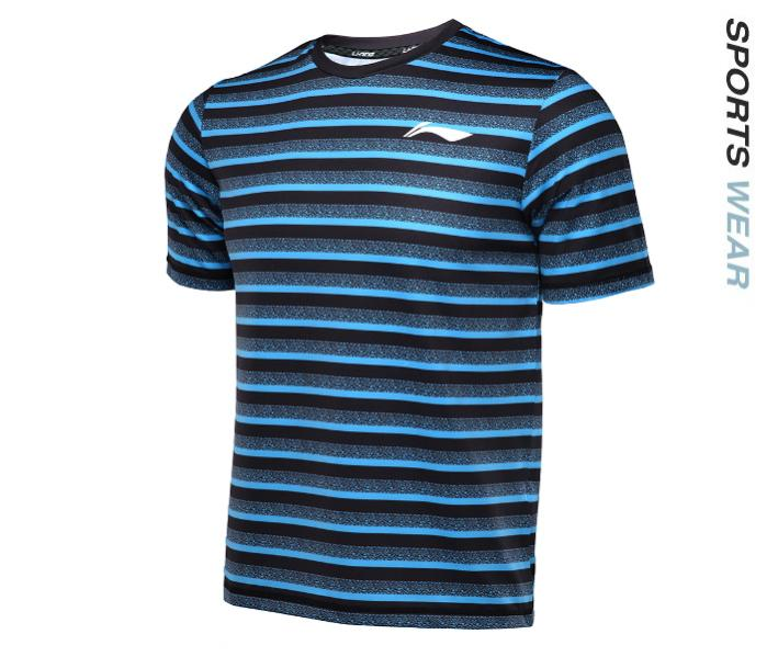 Li-Ning Men RN TEE - Black/Blue -ATSL395-3