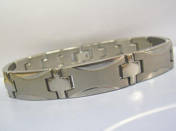 LIBERTZY Titanium Non Magnetic Bracelet Health Therapy Wrist Bangle