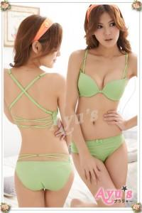 Light Green Push-Up Bra Set 11375