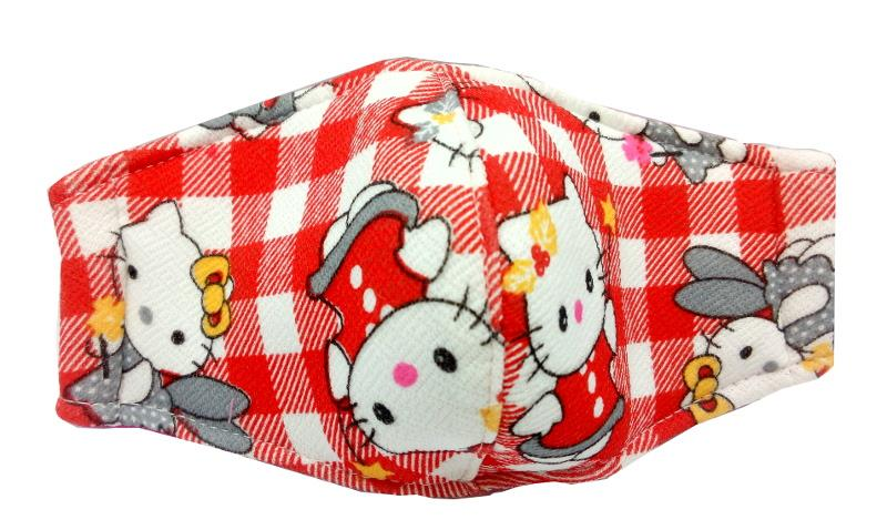 LIMITED EDITION CHILD FACE MASK CLOTH 1 PIECE (REUSABLE) HELLO KITTY