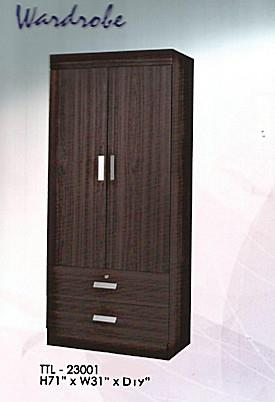LIMITED SALE 2DRAWER AND 2DOOR WARDROBE MODEL - 23001