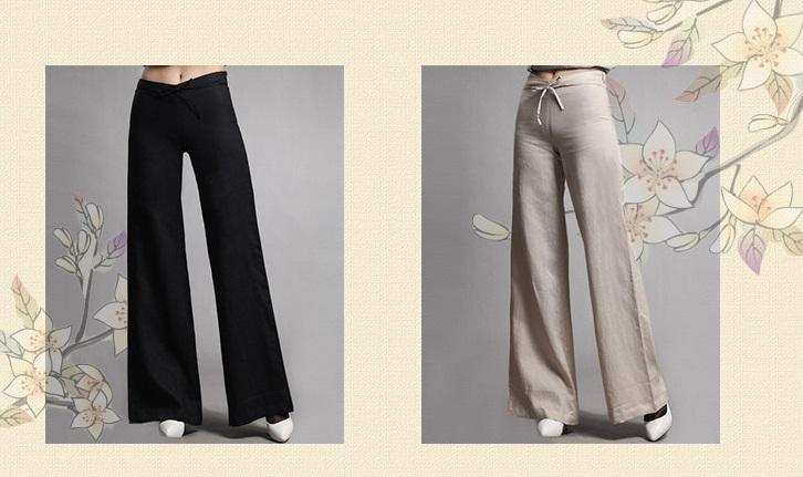 Linen Wide Leg Flare Pants (end 2/3/2015 5:15 PM - MYT )