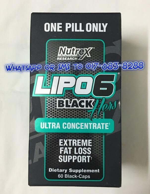 LIPO 6 Black Ultra Concentrate Hers ( 60 CAPS ) # NEW LOOK #