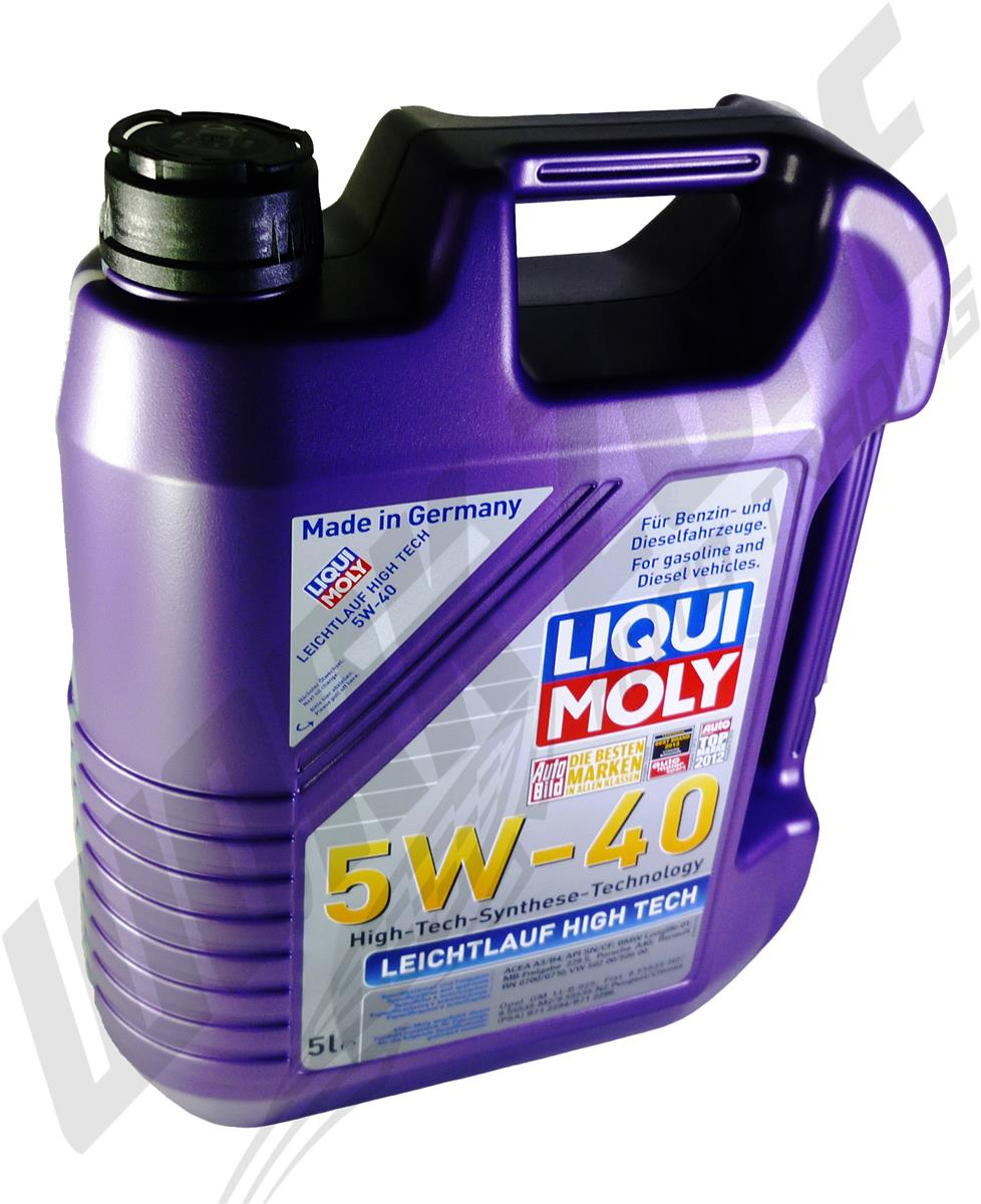 liqui moly leichtlauf high tech 5w40 engine oil 5l. Black Bedroom Furniture Sets. Home Design Ideas