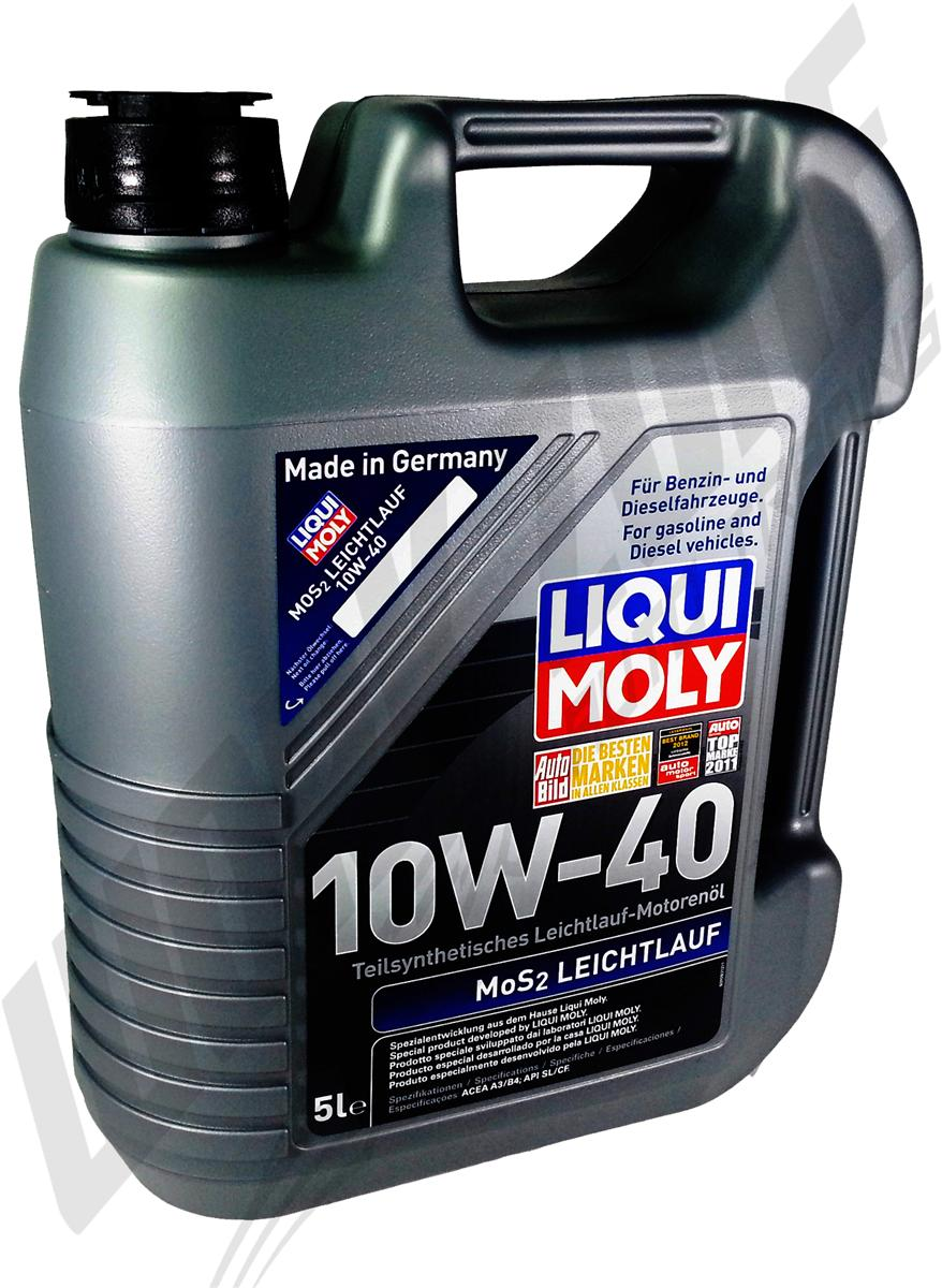liqui moly mos2 leichtlauf 10w40 engine oil 5l. Black Bedroom Furniture Sets. Home Design Ideas