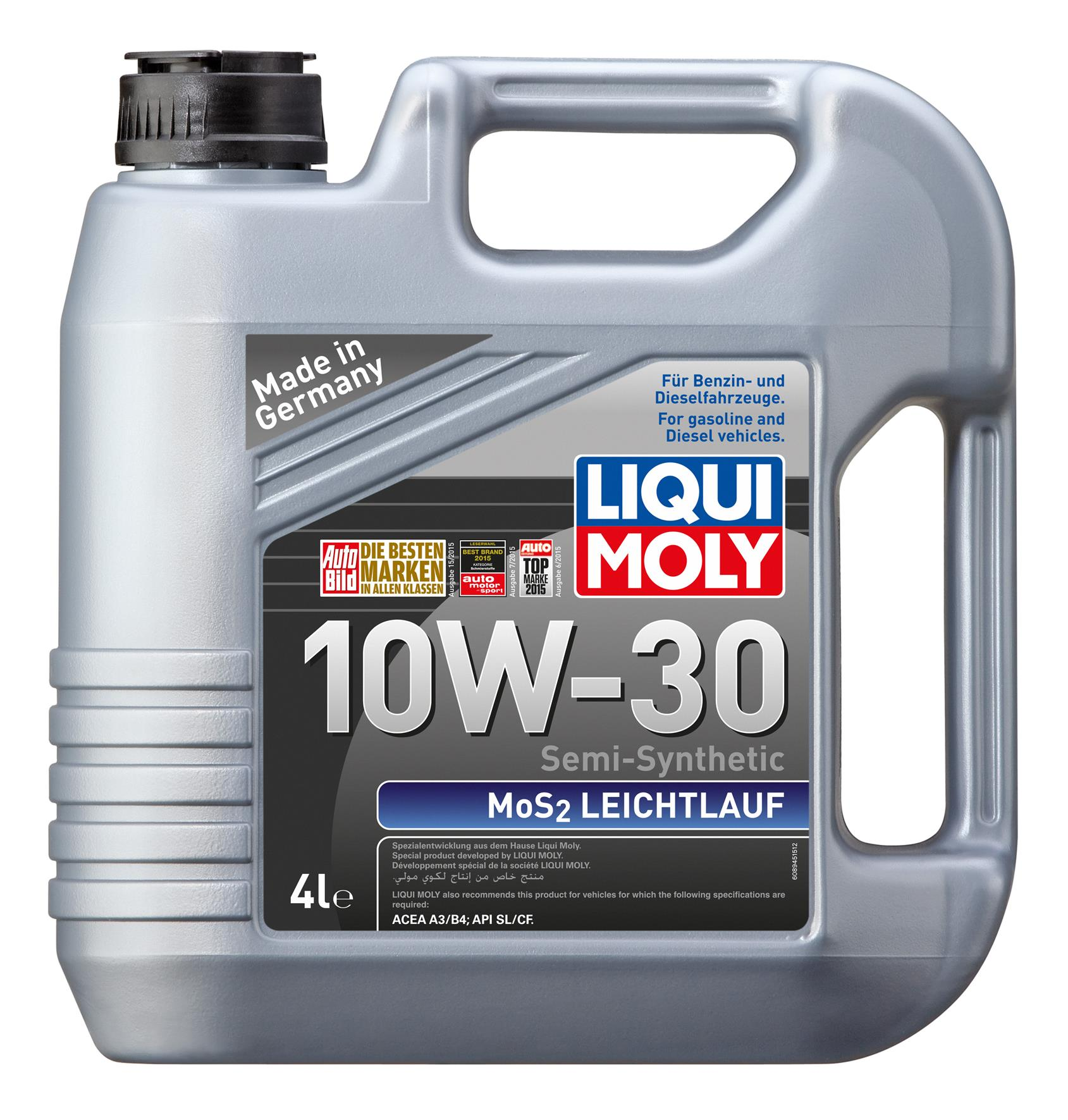 Liqui moly semi synthetic mos2 leic end 12 26 2017 5 15 pm for Type of motor oil
