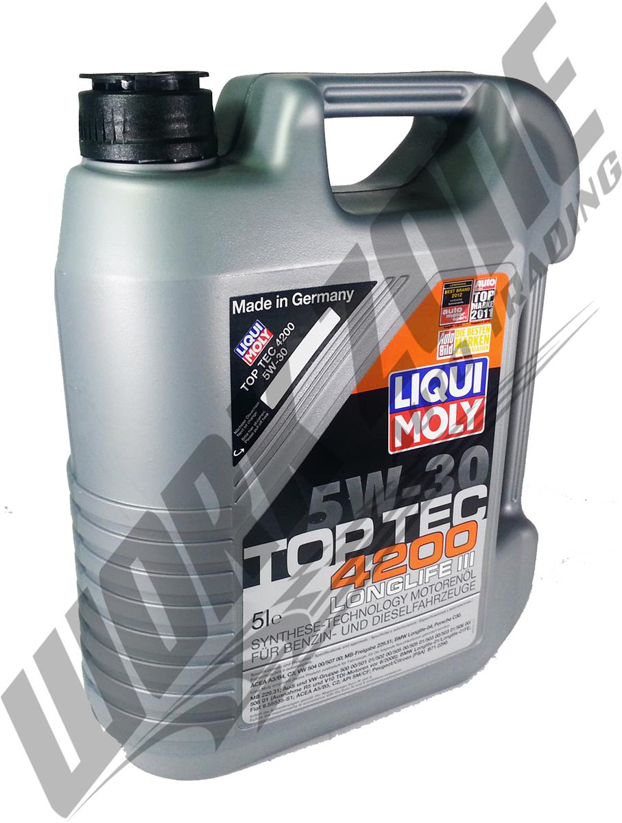liqui moly top tec 4200 5w30 engine oil 5l. Black Bedroom Furniture Sets. Home Design Ideas