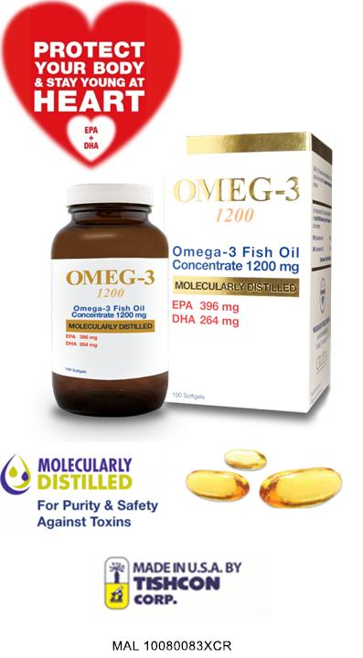 Live Well Omeg-3 1200 3x60's (Omega-3 Fish Oil 1200mg) (MADE IN USA)
