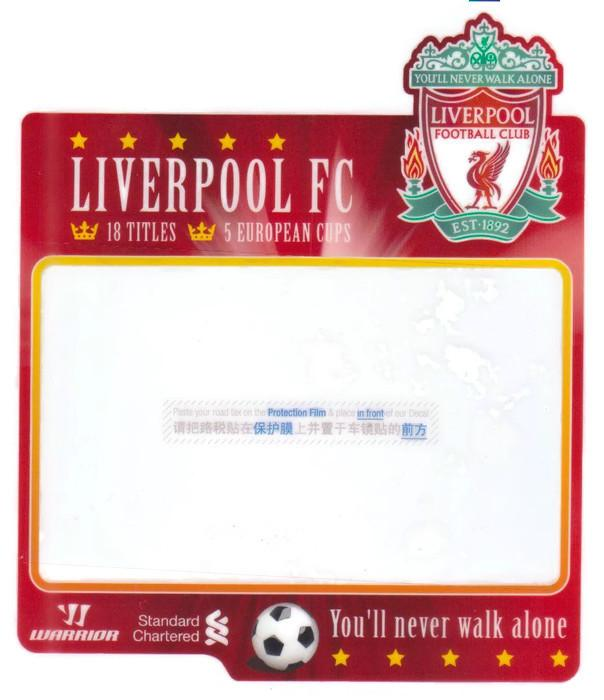 LIVERPOOL FC Road Tax Sticker - Design No.4