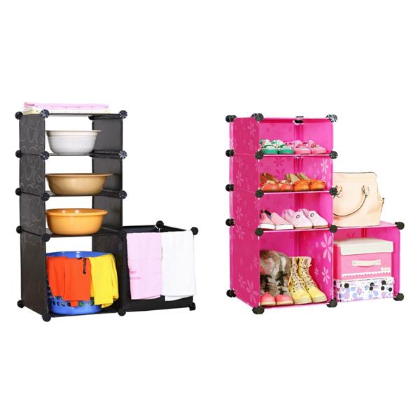 Living Cabinet 5 Cubes Rack Easy DIY Multipurpose Wardrobe