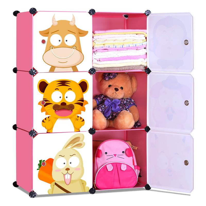 Living Cabinet 6 Cubes Easy DIY Zodiac Cartoon Wardrobe