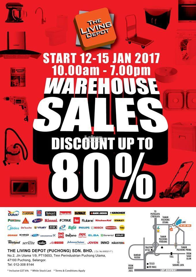 The Living Depot Warehouse Sales at Puchong