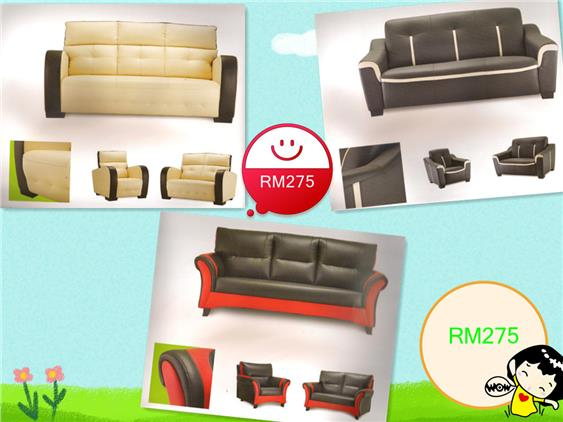 LIVING ROOM COLLECTION SOFA SET 3+2+1 SEATER INSTALLMENT PLAN