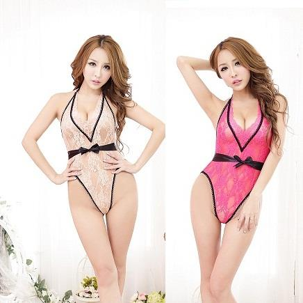 LM5530 Lace Teddy Sexy Back Nightwear Lingerie (2 Colors)