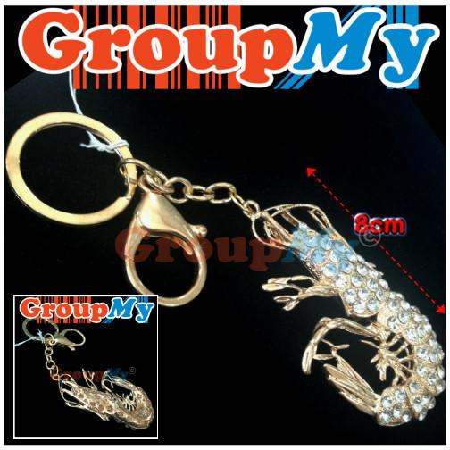 Lobster KeyChain Ring Charm Amulet Pendant Charm Good Luck Diamonds