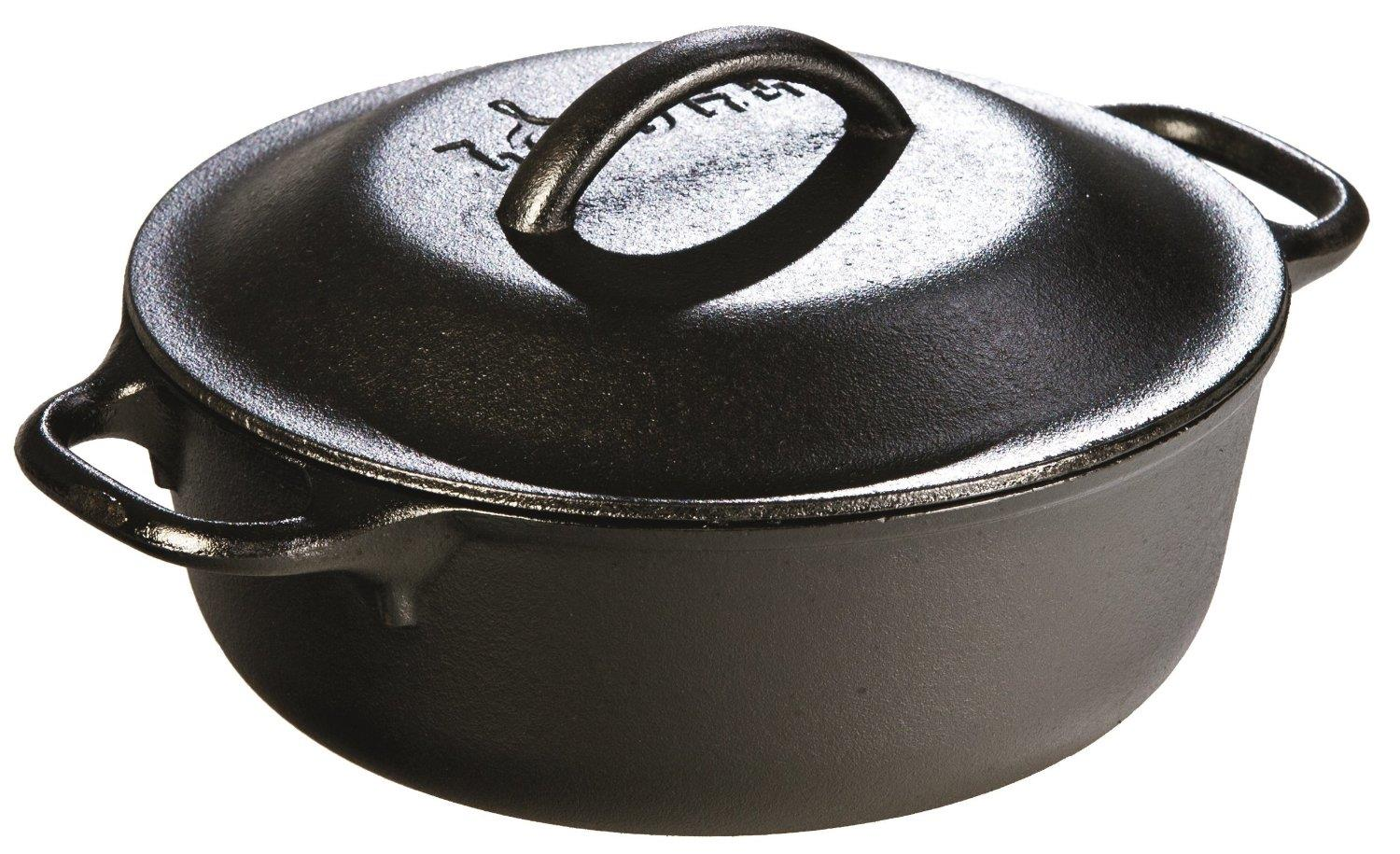Lodge L2SP3 Pre-Seasoned Cast-Iron Serving Pot, 2-Quart