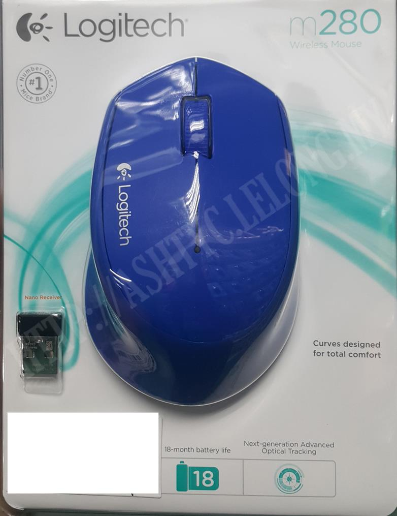 LOGITECH COMFORT WIRELESS MOUSE M280 BLUE