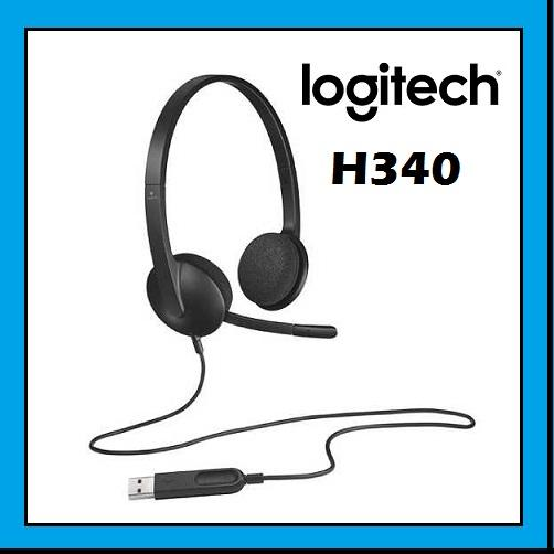 LOGITECH H340 Plug-and-Play Stereo USB headset with mic