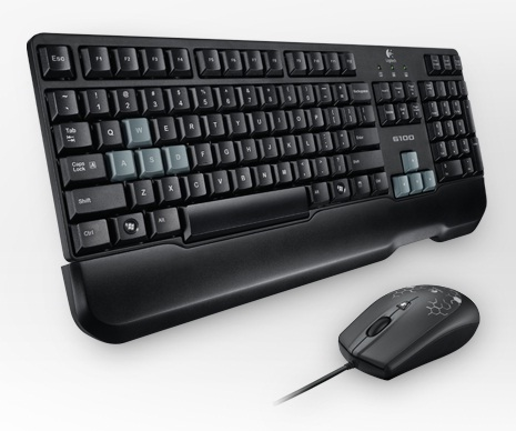 LOGITECH KEYBOARD & OPTICAL MOUSE WIRED DESKTOP COMBO (G100S) BLK