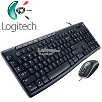 Logitech Media Combo mk200 Wired USB Keyboard+Wired USB Optical Mouse