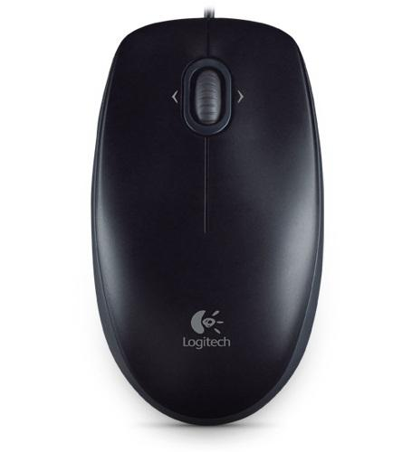 LOGITECH WIRED OPTICAL MOUSE, M100R BLK