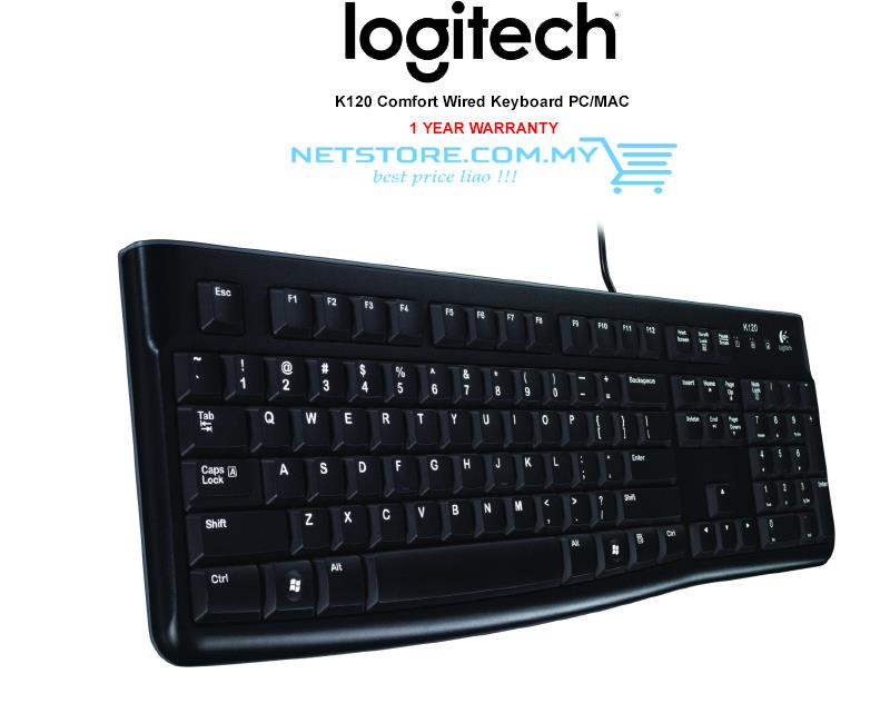 Logitech Wired USB Keyboard K120 Comfort | NEW STOCK |