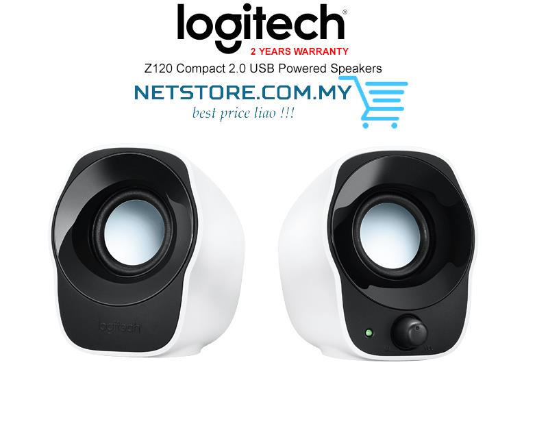 Logitech Z120 Compact 2.0 USB Powered Speakers