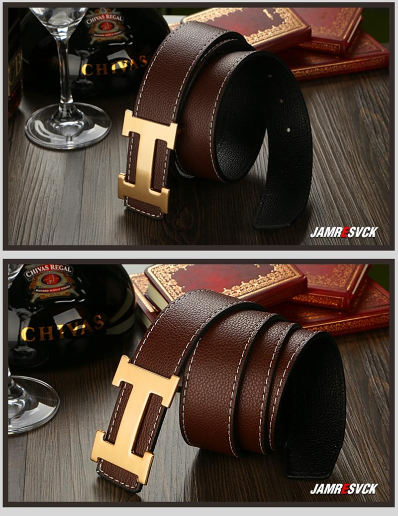 Logo H gold buckle inspired man belt men tali pinggang branded wear
