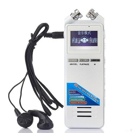 Long Recording 8GB Digital Voice Recorder With MP3 (WVR-09A)▼
