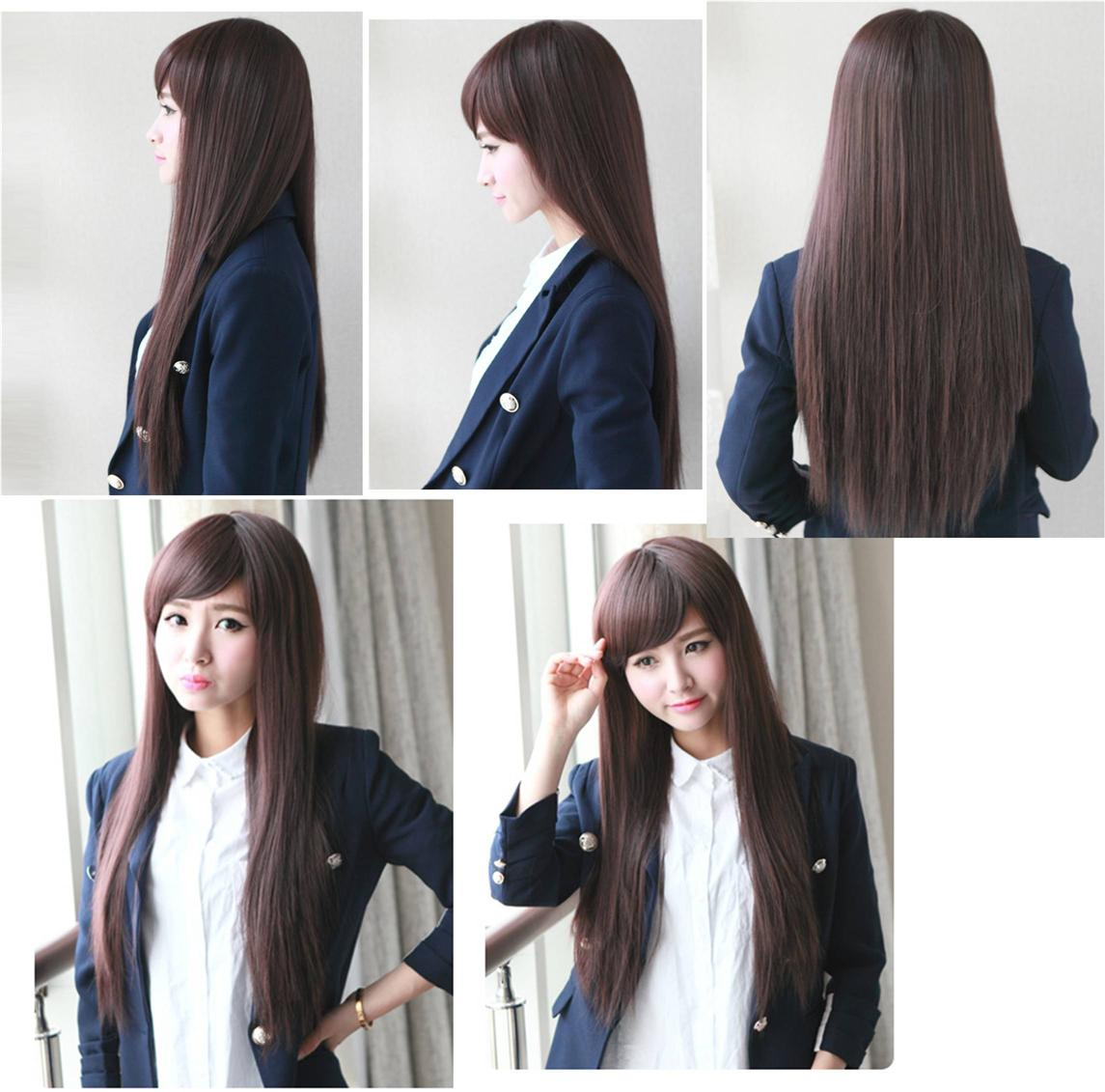 Long straight wig*Nov9-ready stock-rambut palsu /promotion deal