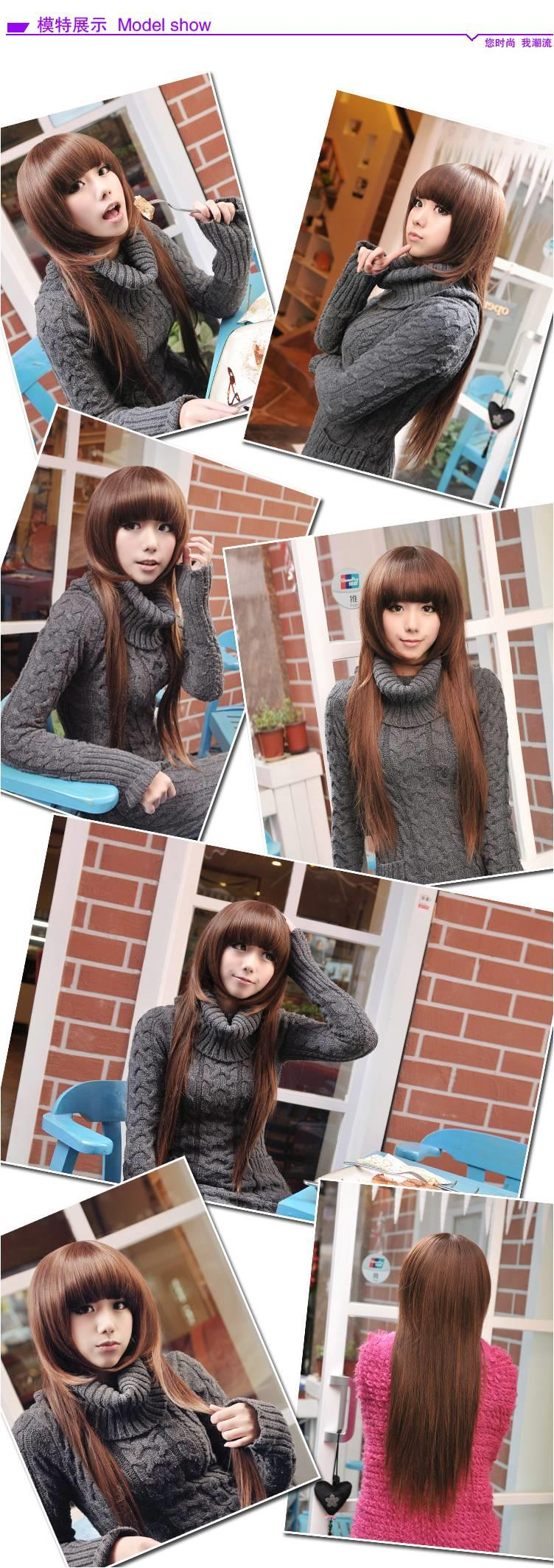 long wig* F23 ready stock-rambut palsu