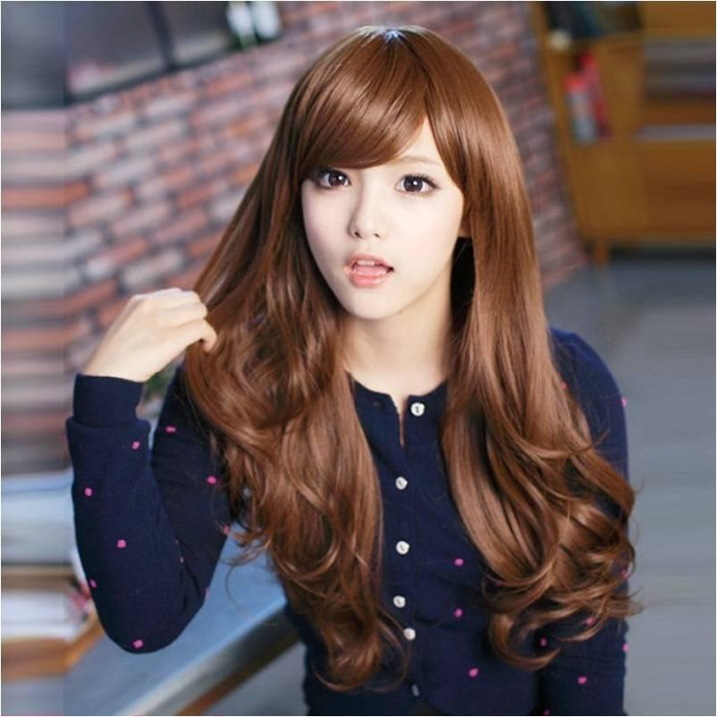 Long wig *F28 (special colour*honey brown) ready stock-rambut palsu