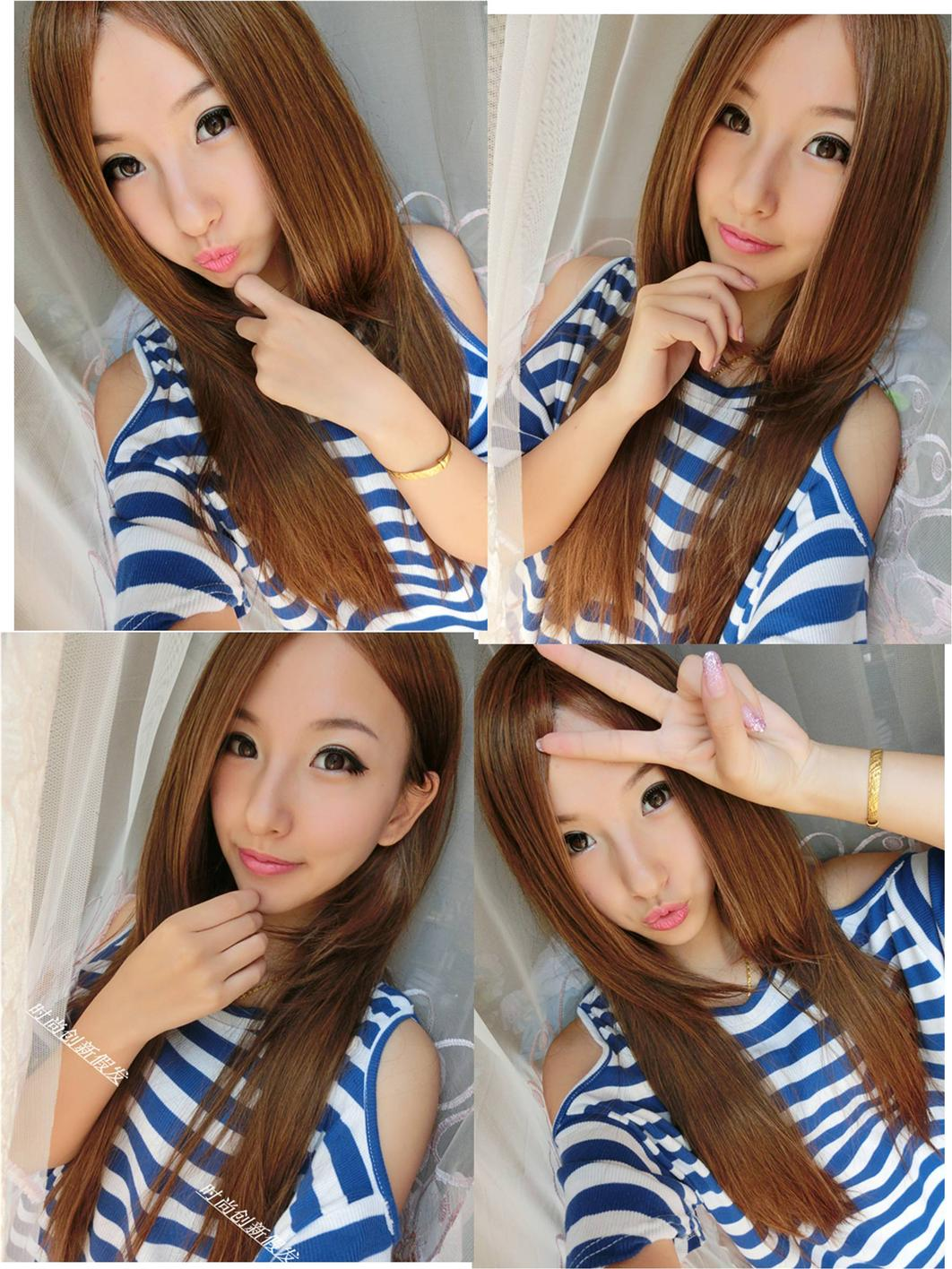 Long wig*H5 ready stock-rambut palsu