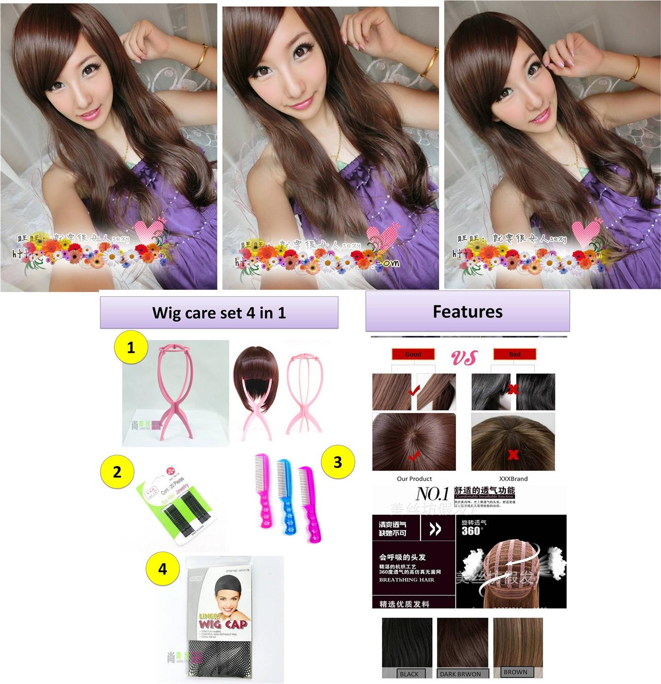 Long wig *ready stock 27-rambut palsu