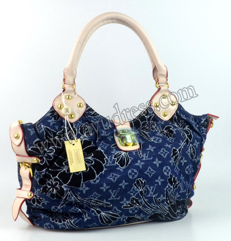 Louis Vuitton handbags Blue DENIM 95624 GRADE AAA