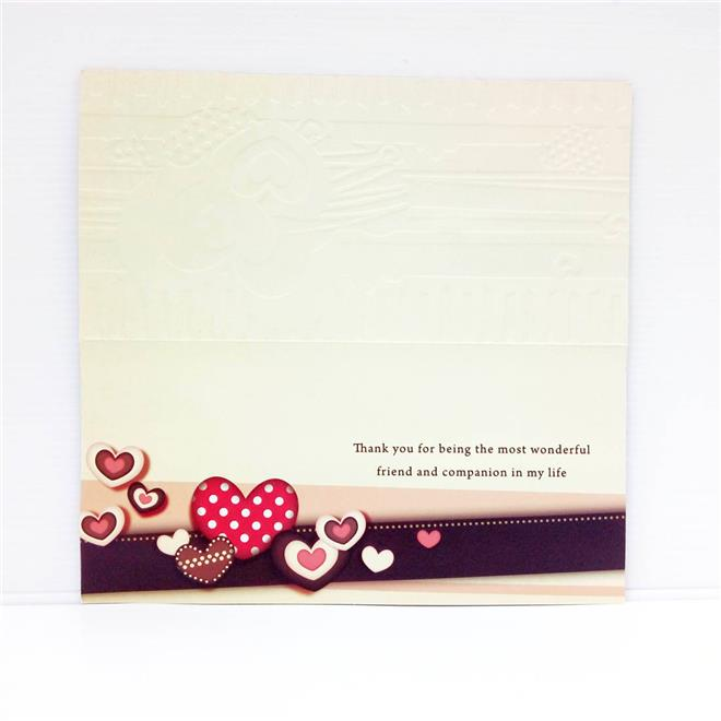 With Love Greeting Card Hearts Design , Say I Love You